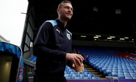 Burnley's Ben Gibson arrives at the ground before the Crystal Palace match, December 2018