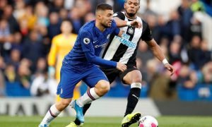 Chelsea's Mateo Kovacic in action with Newcastle United's Joelinton