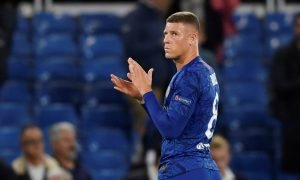 Chelsea's Ross Barkley looks dejected as he applauds the fans at the end of the Valencia, Champions League Group Stage match