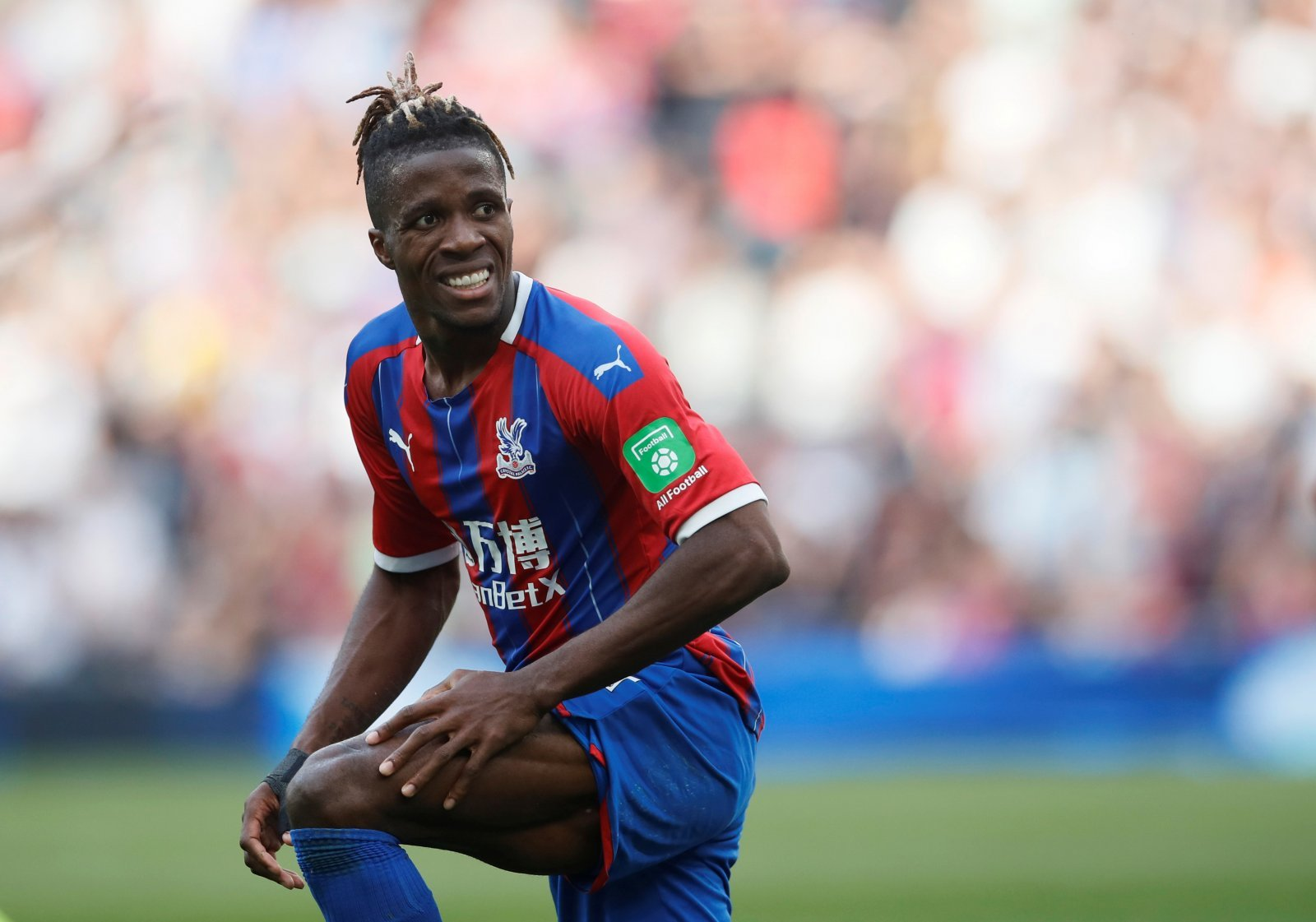 Crystal Palace: Declan Rice has his say on Wilfried Zaha spitting row