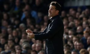 Everton manager Marco Silva reacts v West Ham United