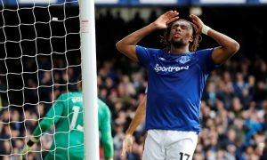 Everton's Alex Iwobi reacts after a missed chance to score v West Ham United
