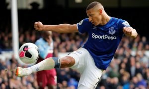 Everton's Richarlison in action v West Ham United