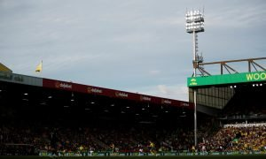 General view inside Carrow Road as Norwich City lost 5-1 to Aston Villa