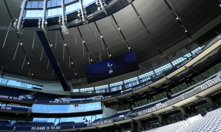 General view inside the Tottenham Hotspur Stadium before the Crystal Palace match