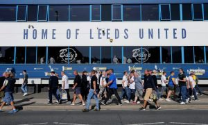 General view outside Elland Road before the Derby County match