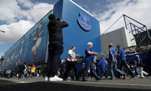 General view outside Goodison Park as Everton host Watford