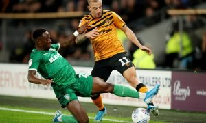 Hull City's Kamil Grosicki in action with Sheffield Wednesday's Moses Odubajo
