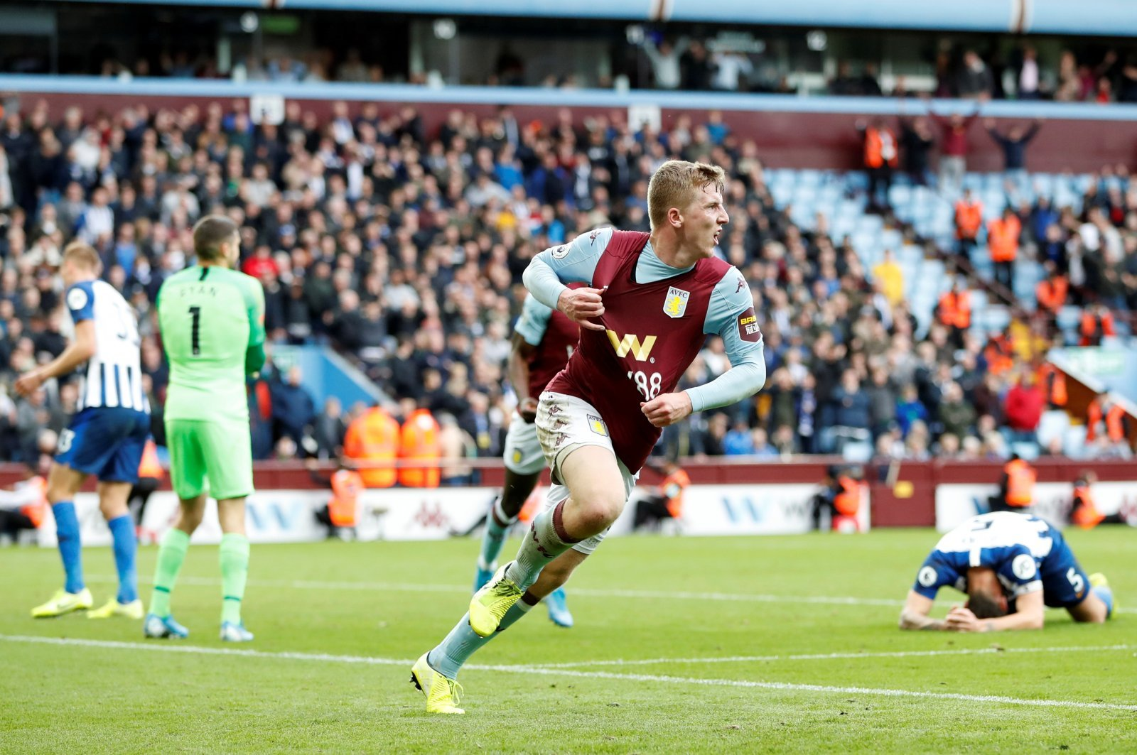 Aston Villa: Fans are loving this clip of Matt Targett celebrating his first goal for the club