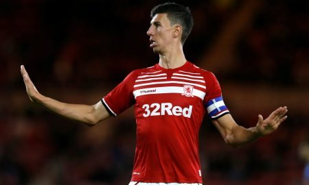 Middlesbrough's Daniel Ayala v Wigan Athletic