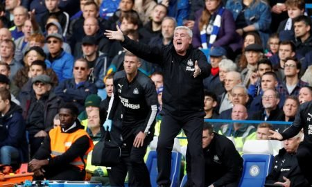 Newcastle United manager Steve Bruce reacts v Chelsea