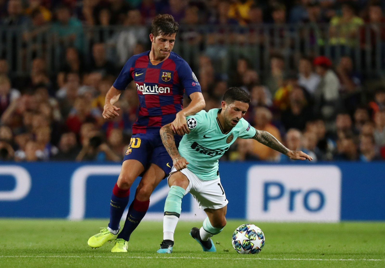 Barcelona: Some fans on Twitter were delighted Sergi Roberto came off injured