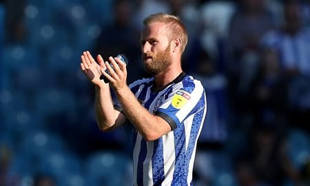 Sheffield Wednesday's Barry Bannan applauds fans after the Fulham match