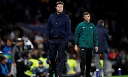 Tottenham Hotspur manager Mauricio Pochettino cuts a dejected figure as Bayern Munich win 7-2 in North London