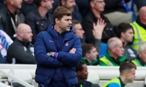 Tottenham Hotspur manager Mauricio Pochettino looks on as Brighton & Hove Albion beat Spurs 3-0