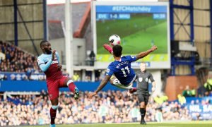 Everton's Theo Walcott in action against West Ham United