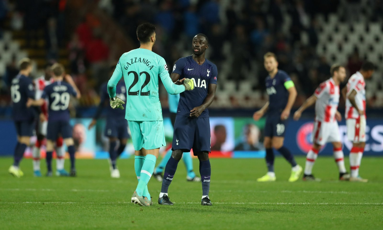 Tottenham: Lots of fans were happy with Paulo Gazzaniga's clean sheet performance in the Champions League