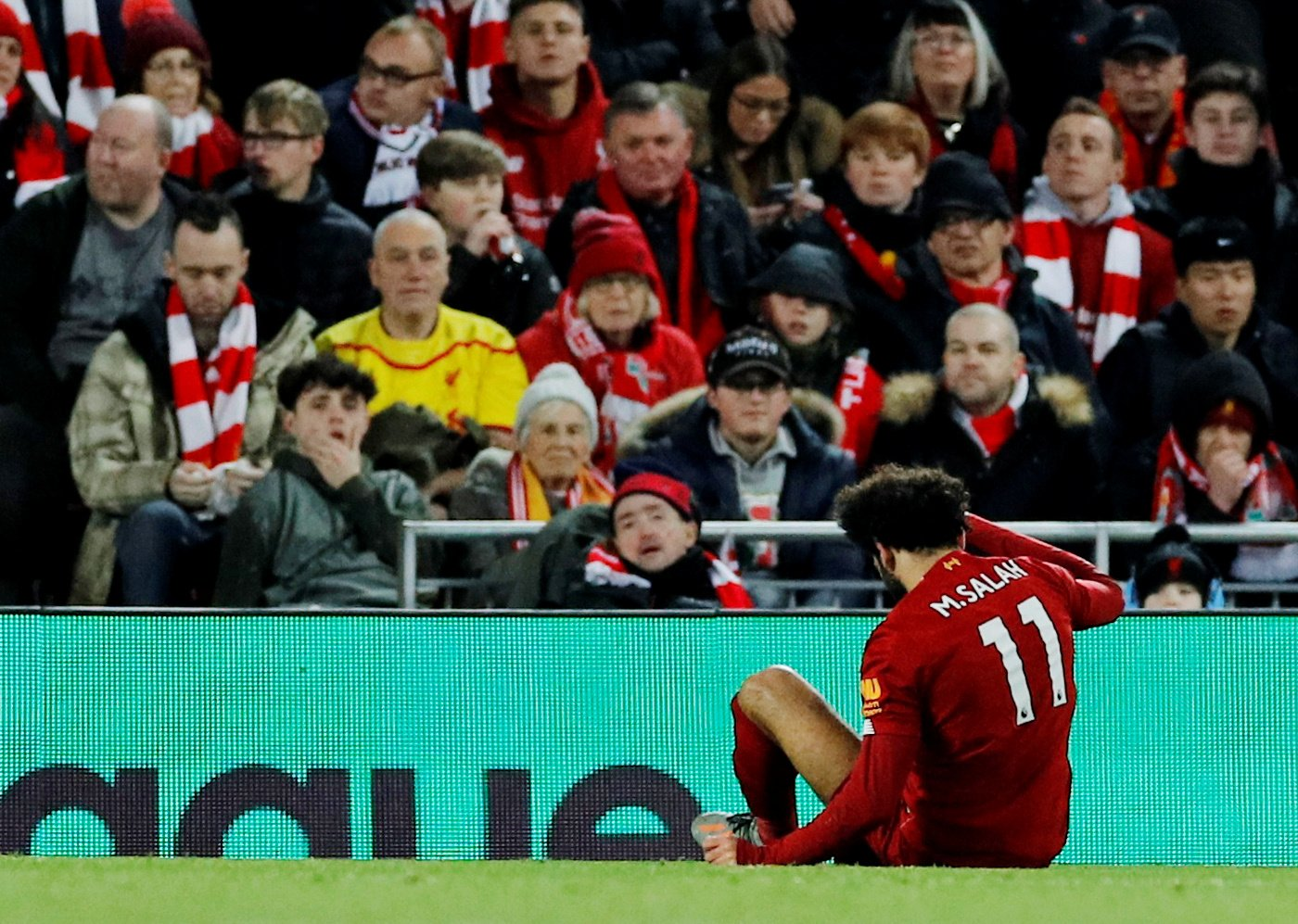Liverpool: Fans not concerned about Mohamed Salah's potential injury