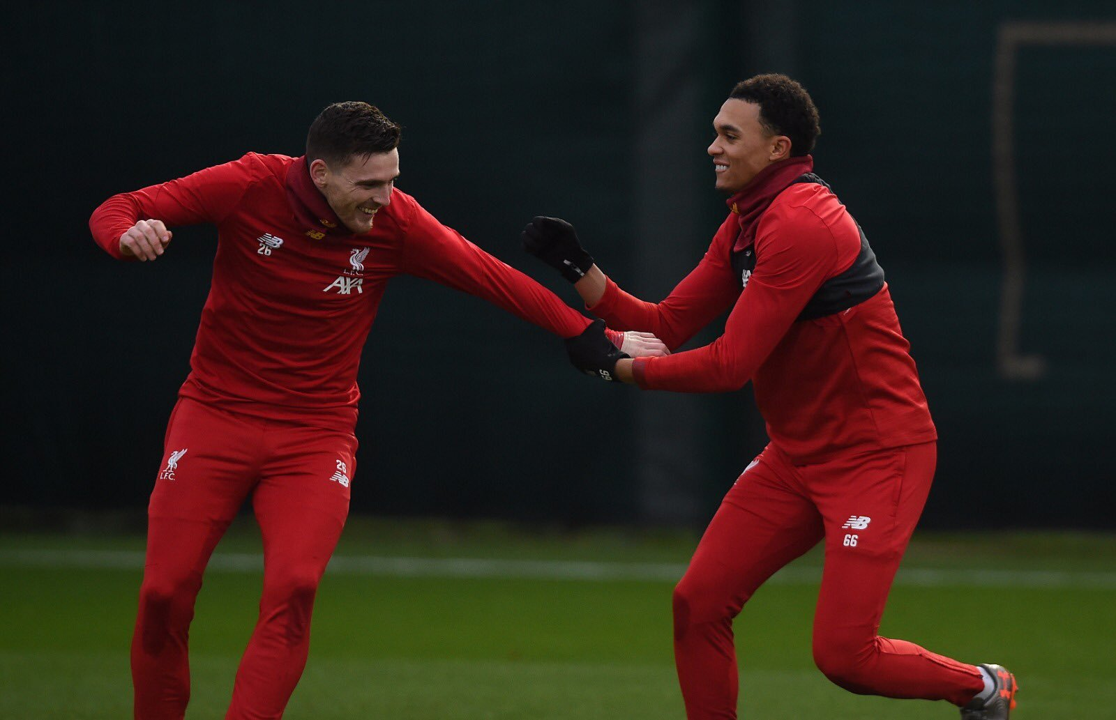 Liverpool: Fans loved the banter between Trent Alexander-Arnold and Andy Robertson