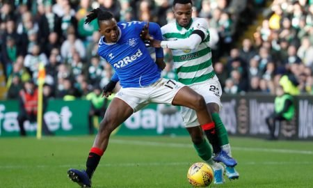 Aribo in action vs Celtic