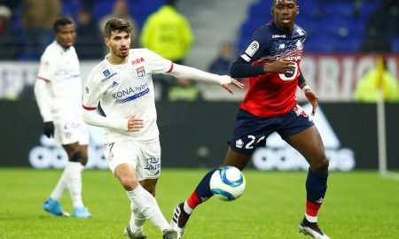 Soumare in Ligue 1 action vs Lyon