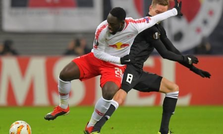 Augustin in action for Leipzig